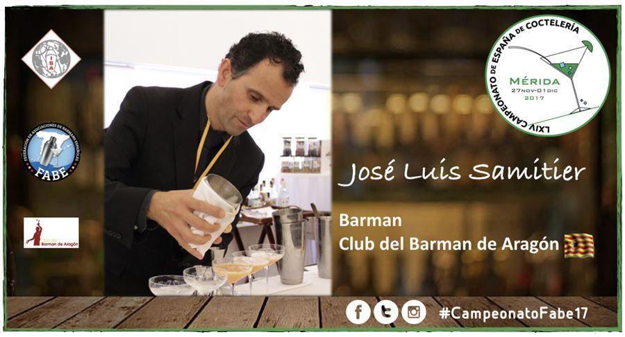 Club del Barman de Aragón-Barman-Luis Samitier