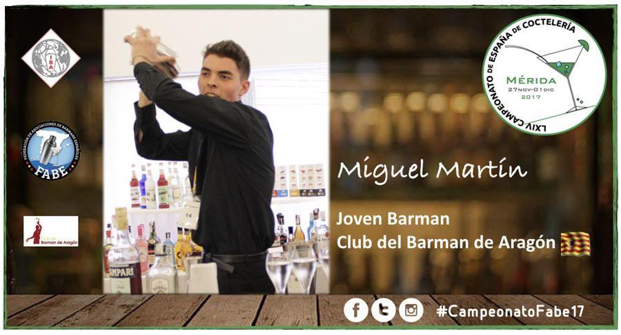 Club del Barman de Aragón-Jóven Barman-Miguel Martín