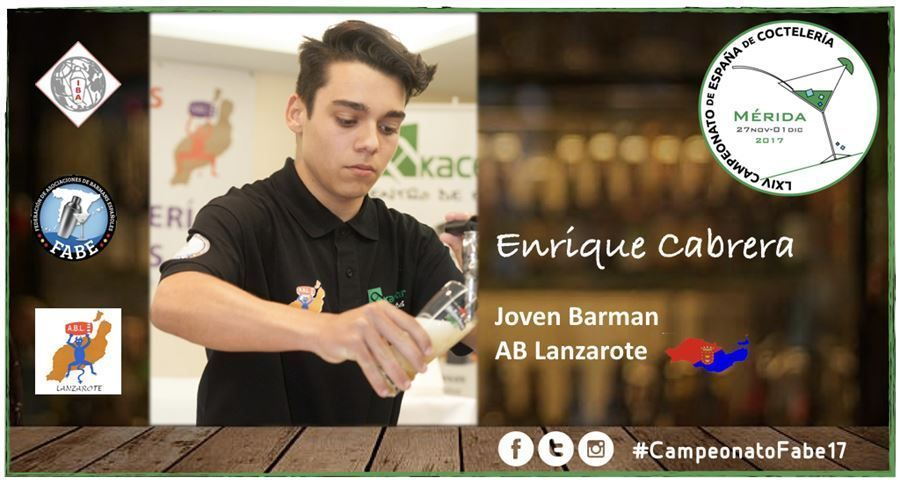 AB Lanzarote-Jóven Barman-Enrique Cabrera