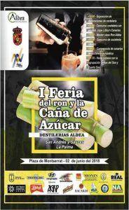 I Feria Caña de Azucar y ron Destilerías Aldea_cartel
