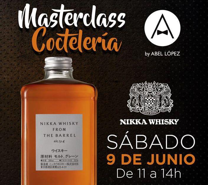 Cartel Master Class de Nikka Whisky en Tenerife