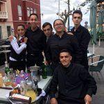 Estudiantes de hostelería del Instituto de las Nieves con Claire Lázaro