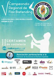 Cartel V Campeonato de Cocteleria Flair Bartending Baleares