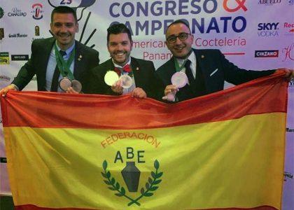 Equipo Español en el Campeonato Panamericano de Cocteleria 2019