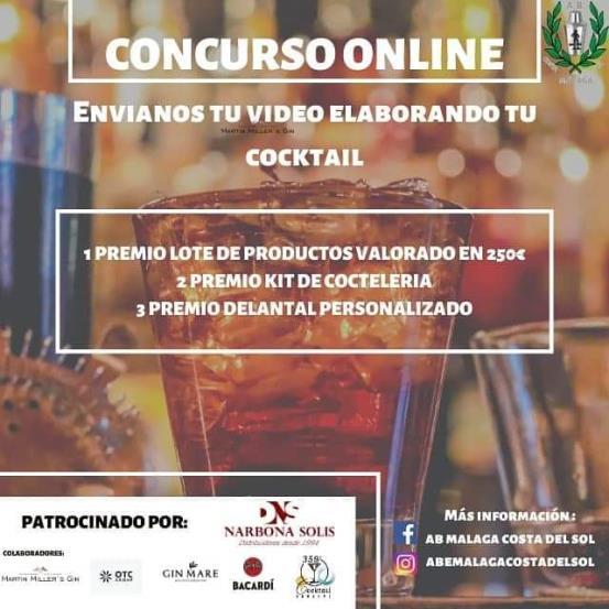Cartel Primer concurso de Cocteleria online de AB Málaga